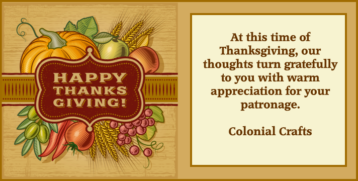 Colonial Crafts Thanksgiving