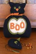 Boo Cat Pin Cushion Set