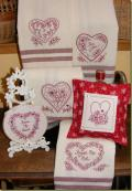 Hearts and Flowers Tea Towels