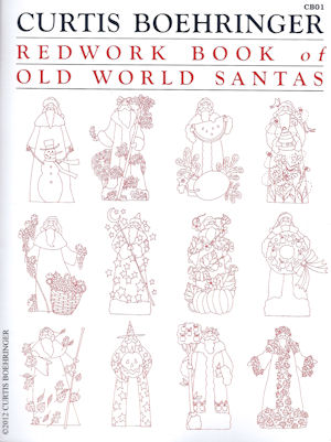 Redwork Book of Old World Santas