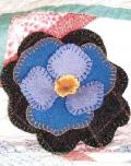 Lavender Pansy Pin Cushion