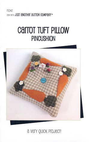 Carrot Tuft Pillow Pincushion