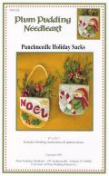 Holiday Punchneedle Sacks