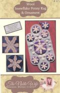 Snowflake Penny Rug and Ornament